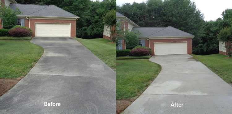 Driveway cleaning service in charlotte nc dave mac 39 s for Driveway pressure washer